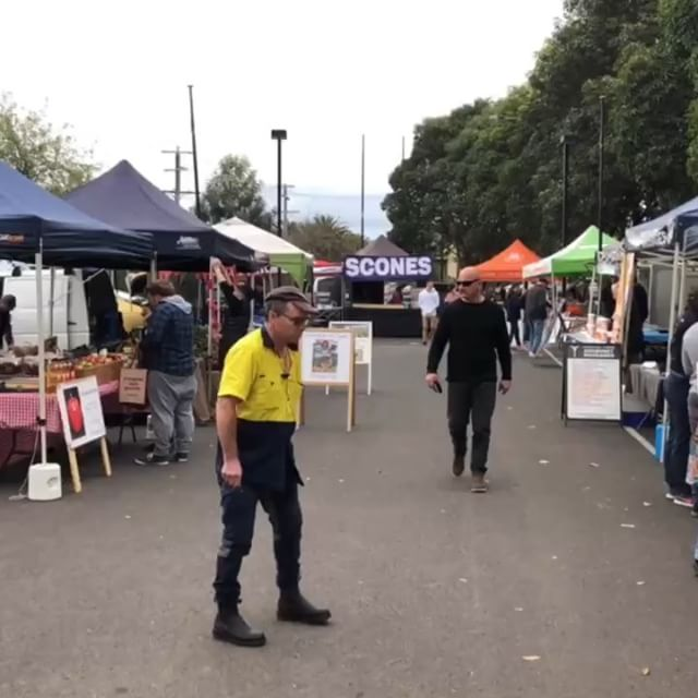 Don't let a bit of rain keep you away from the market. Everyone has made a big effort to be here … pop your coat on and get down here! Thanks Craig from @roseleigh_homes for stitching this video together for us.