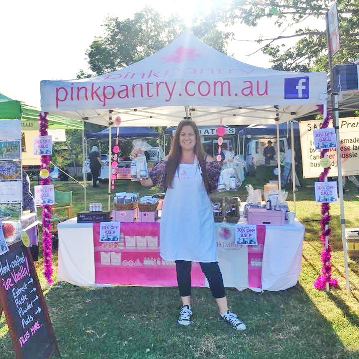 For the last time @pinkpantryvanilla is all set up at Warragul Farmers Market. { BE QUICK! 30% OFF EVERYTHING UNTIL SOLD OUT }