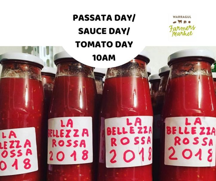 It's market day!  Come on down to Civic Park for a day of deliciousness and learning of traditional Sicilian passata with the Bordonaro family