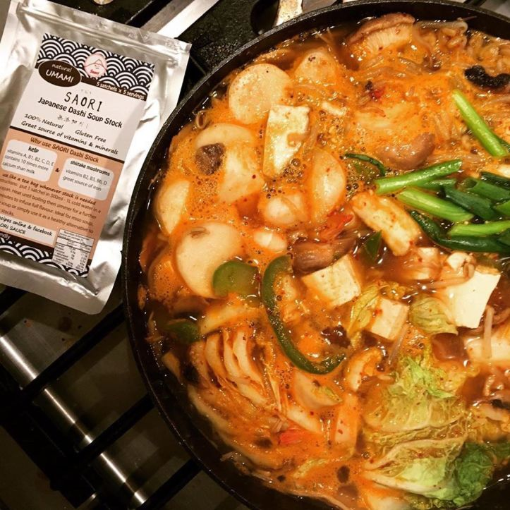 Make sure you pick up some of this Japanese sauce next Saturday @saori_japanese_sauce ・・・ It's bitter cold 🥶 here in the . Korean style hot pot is a great way to make you warm. My SAORI 100 % Natural Japanese Dashi gives awesome flavours AND minerals & vitamins to keep you healthy #チゲ鍋 #メルボルン #無添加生活 #オーストラリア生活 #メルボルンライフ