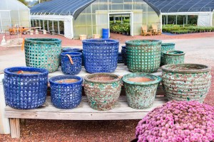 Warren Family Garden Center has glazed, Mexican, round, square, rectangle, textured, smooth pottery.