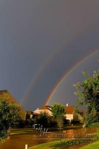 Double Rainbow over Frisco, Texas.  Copyright 2010 Warren Paul Harris