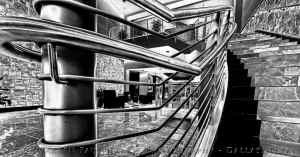 Stairs-Lobby BW 2