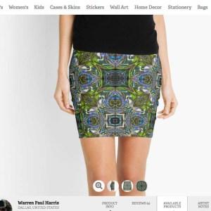 Vortex Blue Scarab Skirt
