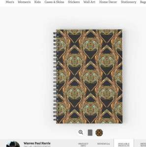 Golden-Scarab-Spiral-Notebook