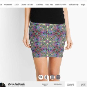 Vortex Voodoo Love Pencil Skirt