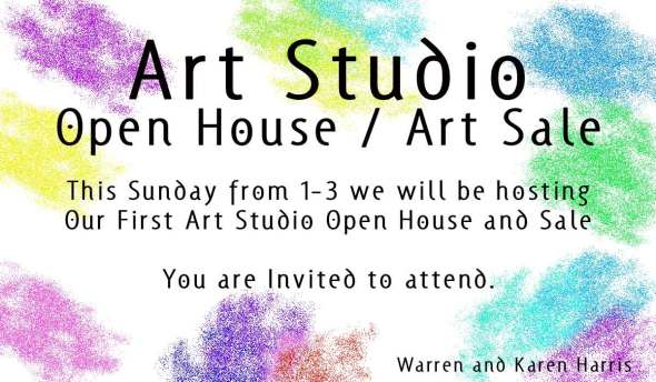 Open House / Art Sale This Sunday