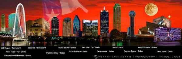 Dallas Fort-Worth Skyline Legend