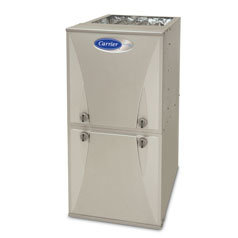 Carrier furnace from Warren Heating and Cooling.