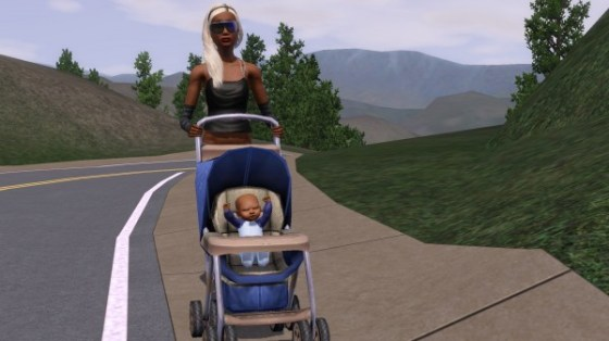 Lola strolling with Adrian