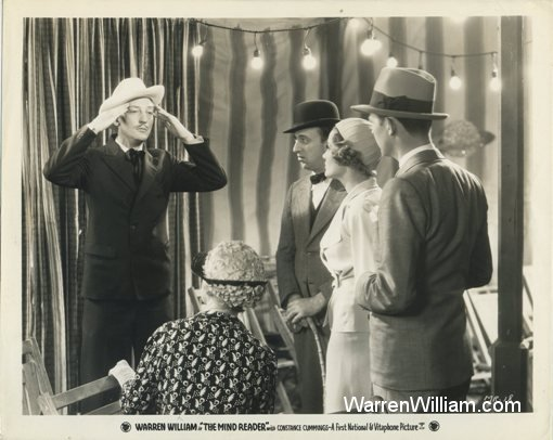 Warren William with Allen Jenkins and Constance Cummings in The Mind Reader
