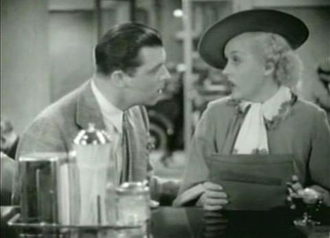 Lyle Talbot and Patricia Ellis in The Case of the Lucky Legs