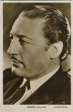 Warren William 1930s era Postcard