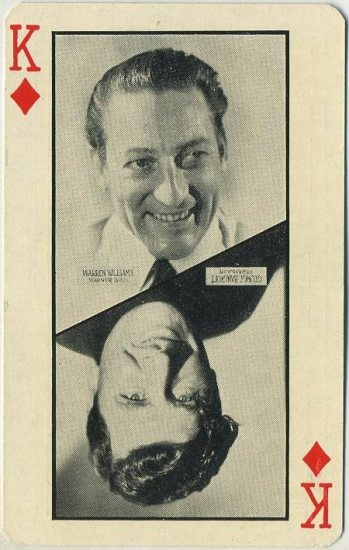 Warren William and George Bancroft 1932 Olympics Playing Card