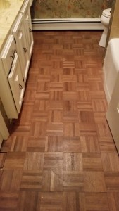 Parquet Floor- Before Renovation