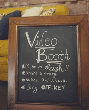 Wedding Reception Video Booth