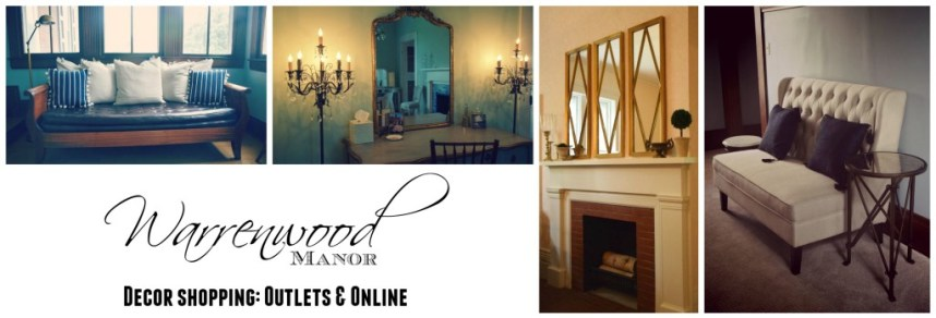 Decor Shopping- Outlets & Online