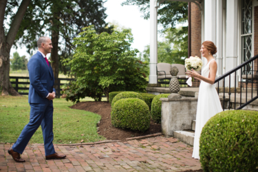 Kentucky estate wedding- Bride & Groom First Look