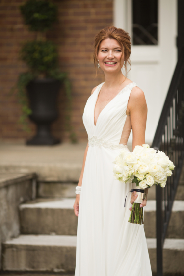 Kentucky estate wedding- Sleeveless bridal gown