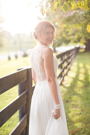 Kentucky summer estate wedding- bridal gown with stunning back details