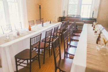 Banquet style wedding reception at Warrenwood Manor