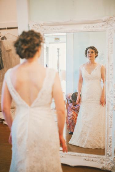 Bride in the Bridal Suite at Warrenwood
