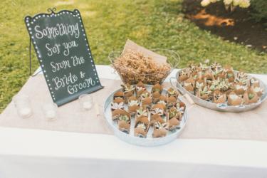 Succulent wedding favor table