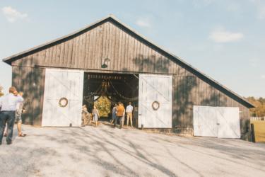 Warrenwood Manor barn wedding ceremony