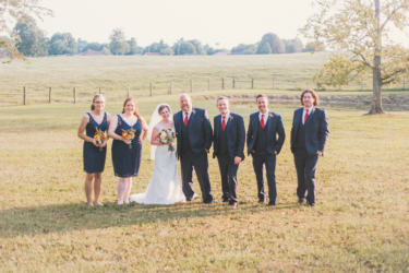 Bridal Party during summer wedding