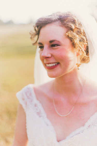 Bridal portrait with natural lighting