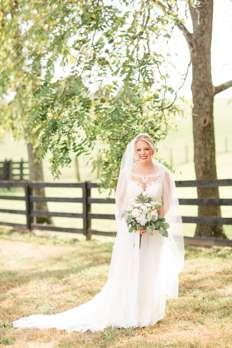Bride at Warrenwood Manor farm wedding