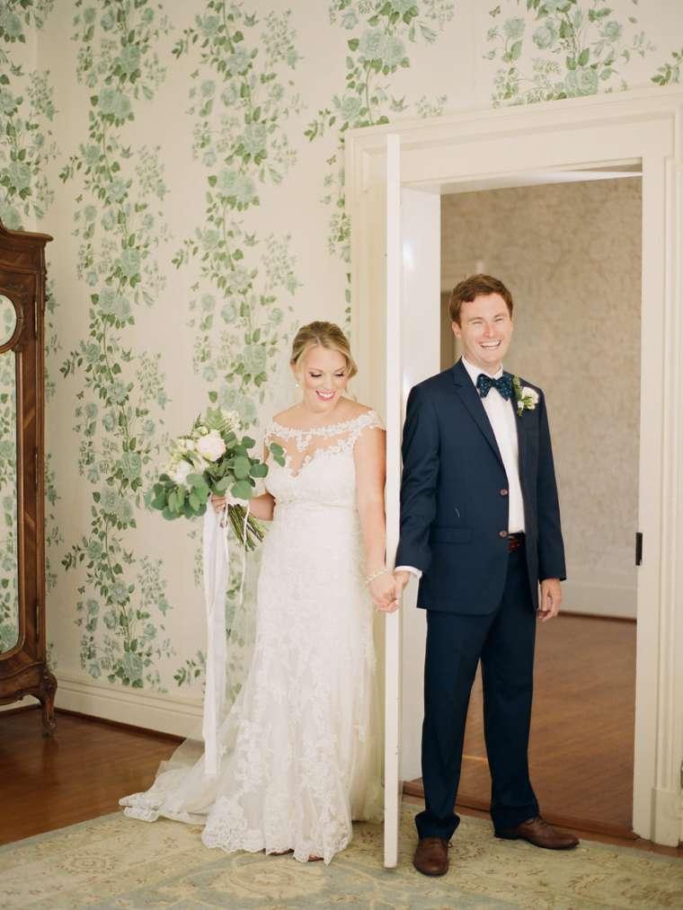 Bride & Groom before ceremony at Warrenwood Manor