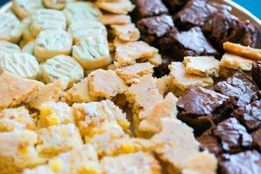 Dessert platter at Warrenwood Manor Open House
