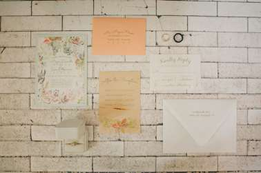 Set of watercolor floral invitations by Simply Done Invites