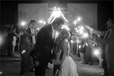 Sparkler send off from Warrenwood Manor barn wedding reception