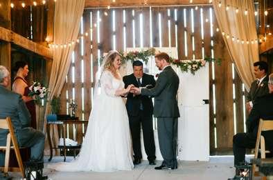 Fall refined rustic wedding ceremony