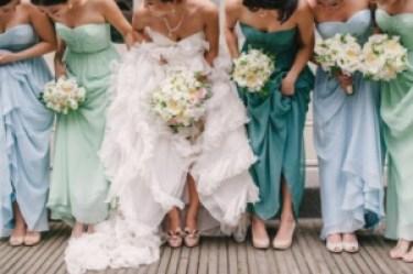 Same Dress Different Color bridesmaid dresses
