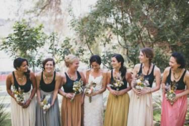 Same Dress Different Color bridesmaid dresses - two pieces