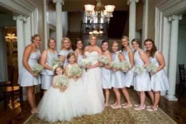 Light blue bridesmaid dresses, Photo by Becky Willard