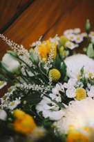 Summer bridal bouquet of yellow, white & green
