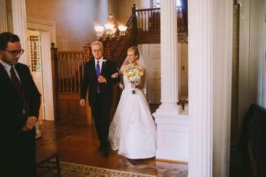 Bride & Father of Bride enter wedding ceremony in Warrenwood Manor