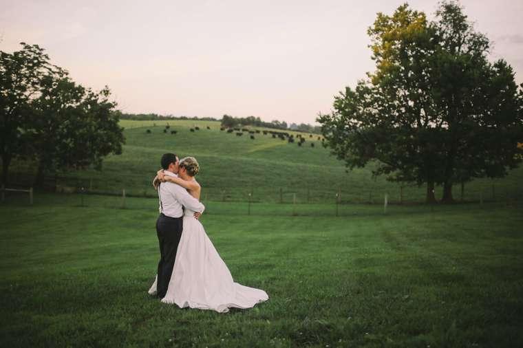 Kentucky Farm Wedding at Warrenwood Manor, green pasture