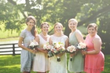 mismatch bridesmaid dresses, Photo by Ben Keeling Photography