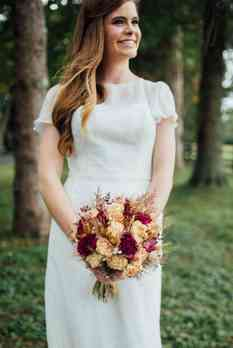 Fall dried bridal bouquet, photo by Erin Trimble Photography