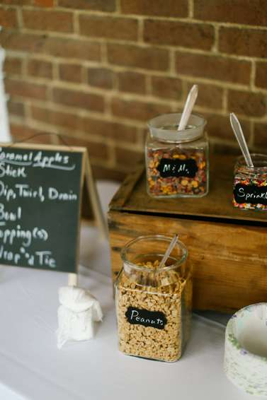 Caramel Apple Station at Fall Wedding