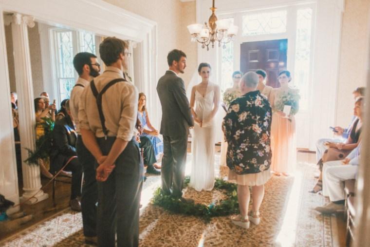 Intimate Indoor Ceremony at Warrenwood Manor