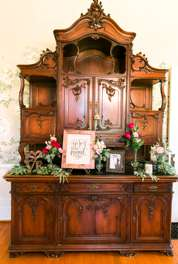 Antique buffet in historic home wedding venue