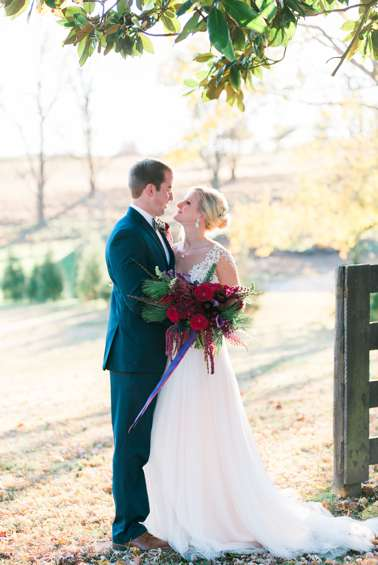 Kentucky farm wedding in November