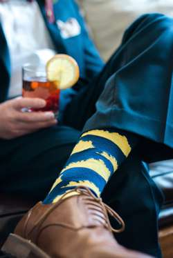 Kentucky Socks on Groom for Kentucky Proud Winter Wedding