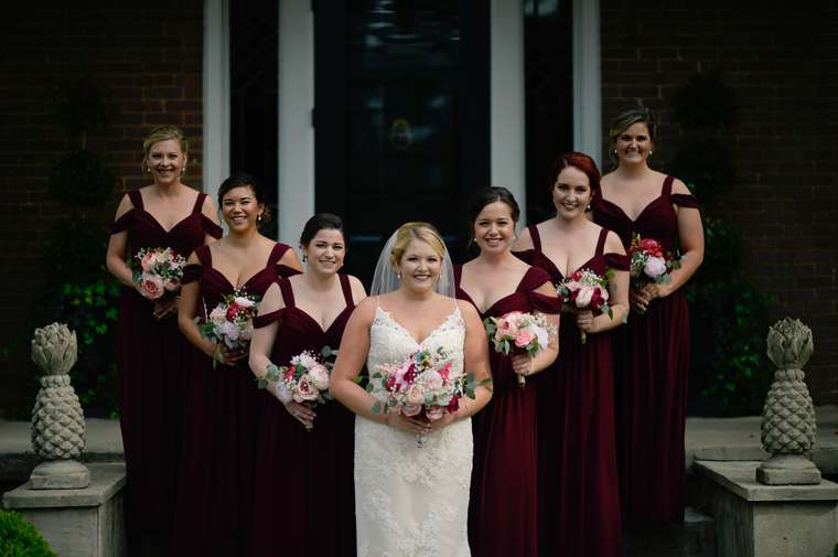 Fall Bridal Party at Warrenwood Manor wedding